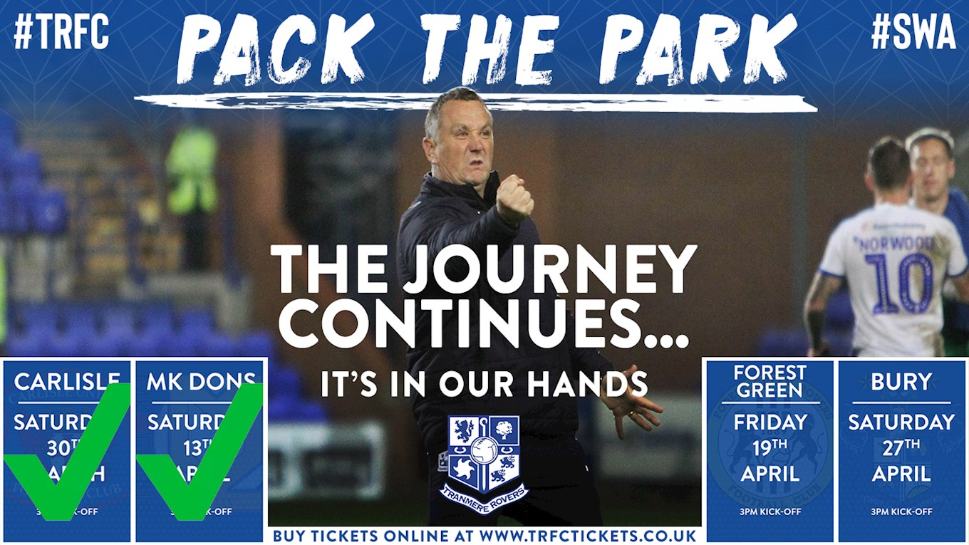 8baeaf20816aa PackThePark - Forest Green Rovers next up for TRFC - News - Tranmere ...